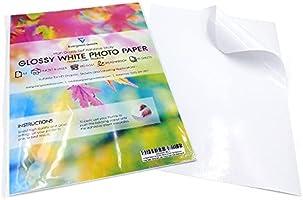 Evergreen Goods Ltd 50 vellen A4 wit Premium glanzend zelfklevend/kleverige achterkant label beeldresolutie afdrukken...