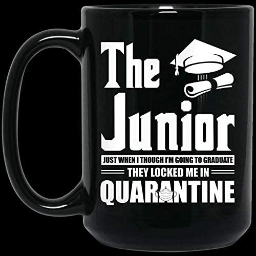 N\A Regalo Divertido de la Taza de café de la Navidad de Halloween 11oz The Junior 2020 Justo Cuando me voy a graduar Me encerraron en una Divertida Taza de café