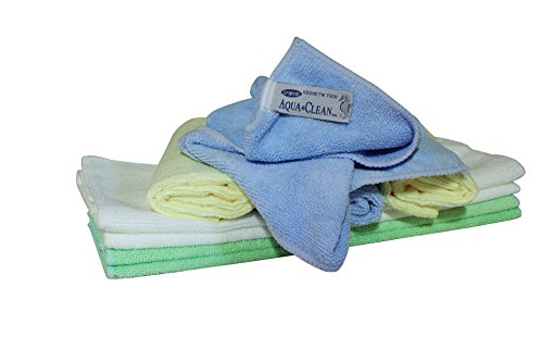 AQUA CLEAN Microfaser Kosmetiktücher, Gesichtsreinigungstücher, Hautreinigung, Abschminktücher 8er tlg.