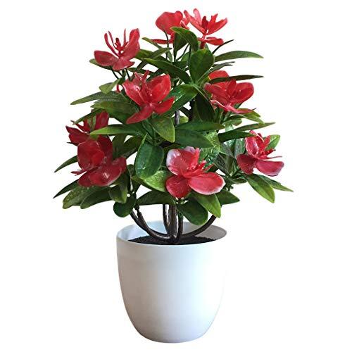 Hotaluyt Gefälschte Blumentopf Kunststoff künstliche Topfblumenhauptdekoration Simulation Bonsai