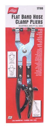 Lisle 17100 Flat Band Hose Clamp Plier
