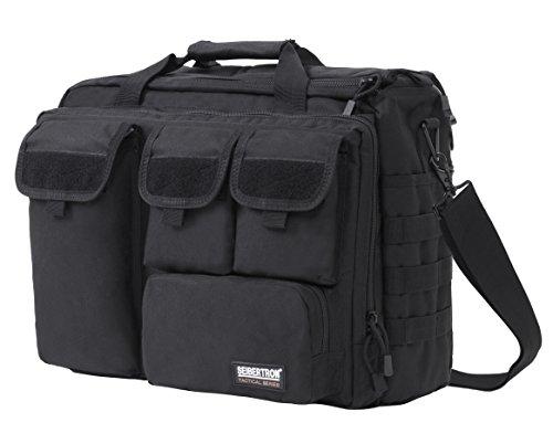 """Seibertron Pro-Multifunction Shoulder Messenger Bag Fit for 17.3"""" Laptop Black"""