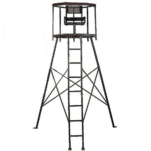 Waidjagd Hochsitz Matterhorn 360 Grad mit umlaufender Auflage Hochstand Ansitz, Drückjagd, Jagd, Jagen, beim PATENTAMT eingetragen, geschütze Version