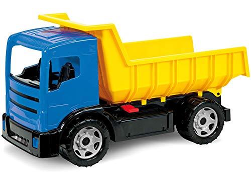 Lena 02053 Giga Trucks Muldenkipper, LKW ca. 62 cm, Starke Riesen Kipplaster, gelb/blau