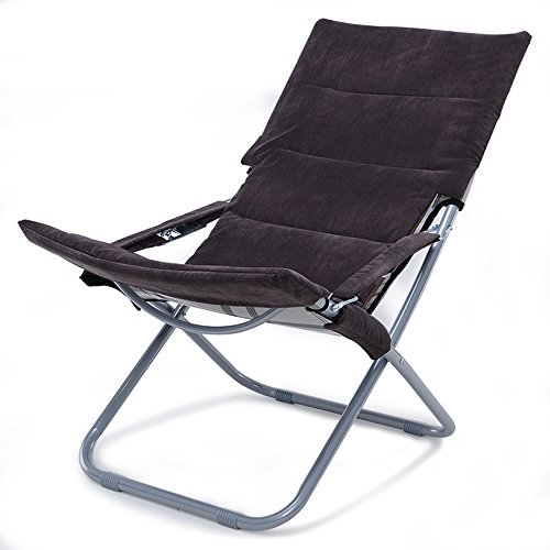 HAMIMI Multifunctional Folding Chair Recliner Family Living Room Balcony Lounge Chair Sun Lounge Office Nap Chair Folding Chair (Color : B)