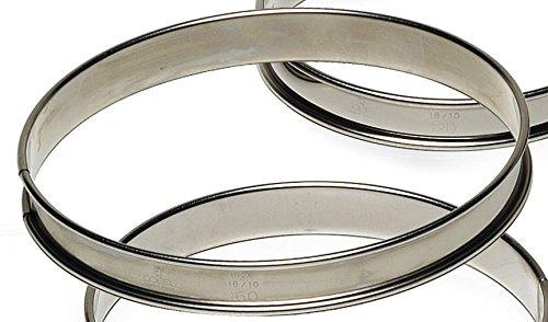 Gobel 834980 Cercle à Tarte Haut Inox Bords Roulés 26 cm