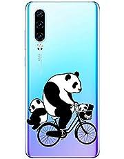 Oihxse Cristal Compatible con Huawei Mate 20 Pro Funda Ultra-Delgado Silicona TPU Suave Protector Estuche Creativa Patrón Panda Protector Anti-Choque Carcasa Cover(Panda A9)