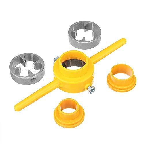 """SGerste - Juego de 6 piezas de herramientas para hacer roscas de PVC para TNP, 1/2"""" 3/4"""" 1"""" de aleación Tarraja Tubo"""