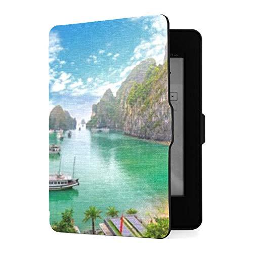 Kindle Paperwhite 1 2 3 Hülle, schöne Landschaft Halong Bay View Adove Pu...