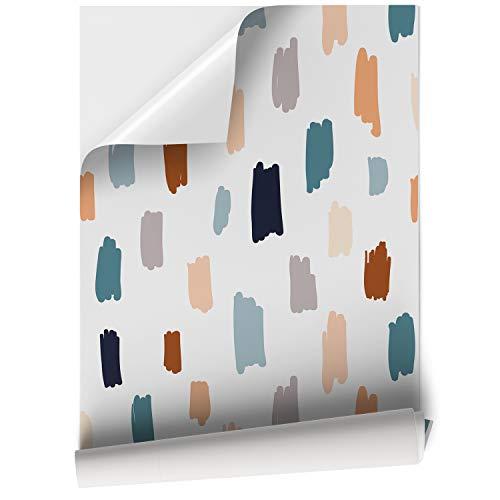 Papel Adhesivo de Vinilo para Muebles y Pared - 45x200cm - Pinturas Colores y Fondo Blanco - Vinilo Decorativo para Hogar, Cocina, Baño y Oficina - Resistente, Impermeable y Removible, V-MUPA-