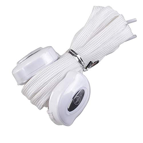 USB Que Carga El Cordón De Nylon Led Que Enciende La Cuerda del Zapato,Blanco