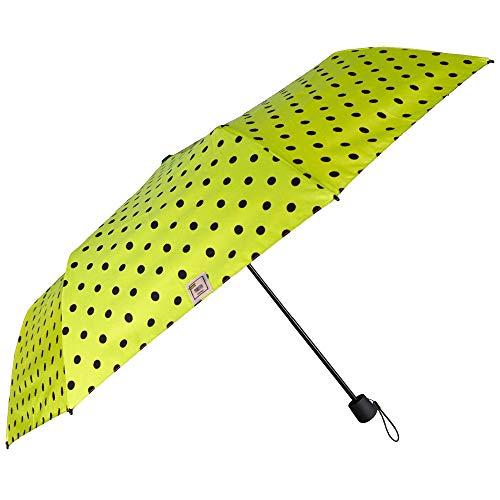 PERLETTI Paraguas Mujer Plegable Extra Compacto - Paraguas Portátil de Viaje con...