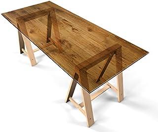 """More Design Glastischfolie Dekofolie Klebefolie für Glastisch Schutzfolie """"Holz"""" selbstklebend Tischfolie Dekorfolie Tischschutz 140cm x 70cm"""