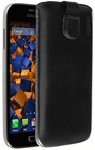 mumbi Echt Ledertasche kompatibel mit Samsung Galaxy Grand Neo Plus Hülle Leder Tasche Case Wallet, schwarz