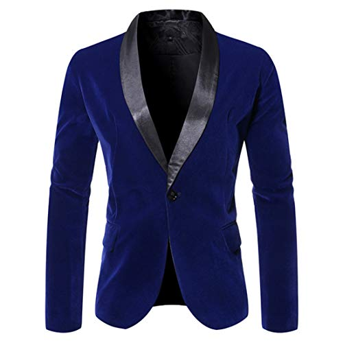 XLDD Herren Sakko Blazer Slim Fit Modern Anzugjacke Einfarbig Modern Sakko Hochzeit Party Abschluss Business Blazer mit Einem Knopf Büro Formale Klassisch Blazer Jacke L