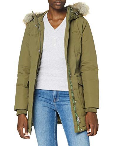 Tommy Jeans TJW Technical Down Parka Chaqueta, Olivo, M para Mujer