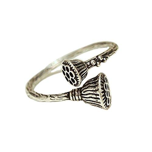 Accessoires Rétro Bague Fashion Silver Ring Tail Simple Ring Ring d'ouverture