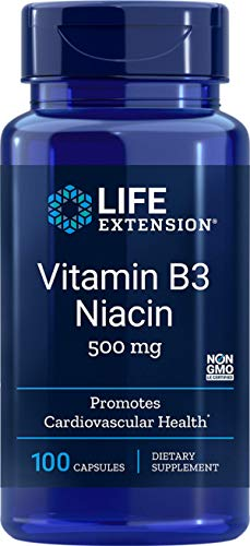 Vitamina B3 Niacina 500 Mg (100 cápsulas) Life Extension