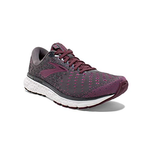 Brooks Womens Glycerin 17 Running Shoe - Ebony/Wild Aster/Fig - B - 10.0