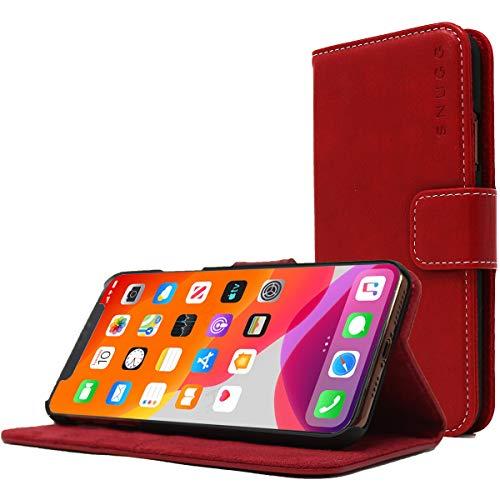 Snugg Cover iPhone 11, Apple iPhone 11 Flip Custodia Case [Slot per Schede] Pelle Portafoglio Progettazione Esecutiva [Garantita a Vita] - Rosso di Cedro Polveroso, Legacy Range