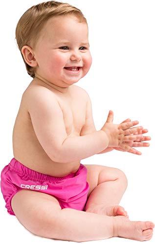 Cressi USD040103P Pannolino per Mare e Piscina, Unisex bambini, Rosa, L (12-18 Mesi)