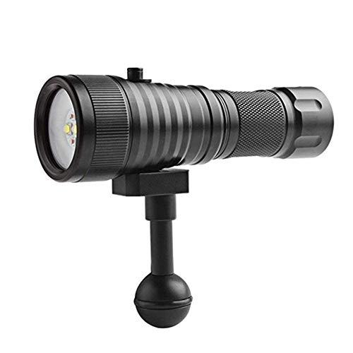 DZX Luz de Buceo LED Lámpara de Video Rojo XML2 Antorcha de Buceo Fotografía submarina Cámara de Video Linterna LED Lanterna Antorcha, Linterna de Foco