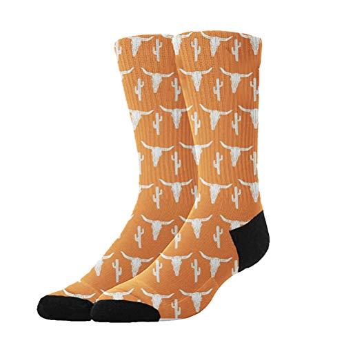Jinkela - Calcetines de algodón para niños y niñas con diseño de Calavera y Cactus