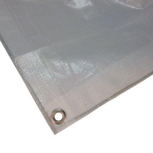 3 x 6 (18 m²) bianca telo di copertura in poliestere 180 G/m² tessuto telone resistente ai raggi UV e riso un'ampia di protezione impermeabile piano