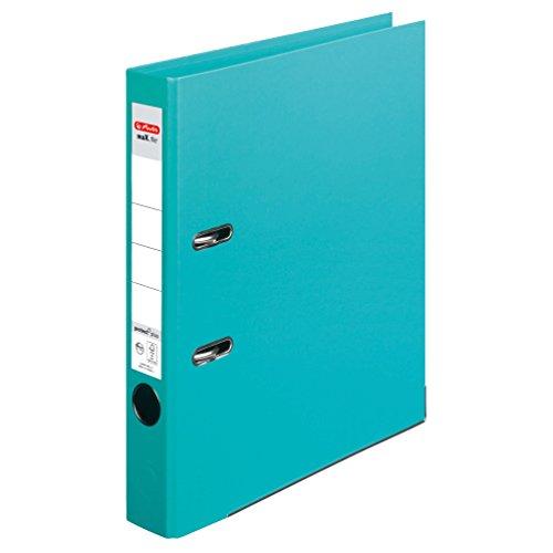 Herlitz 10834802 Ordner maX.file protect+ (A4, 5 cm, Voll-Folienbezug) mint