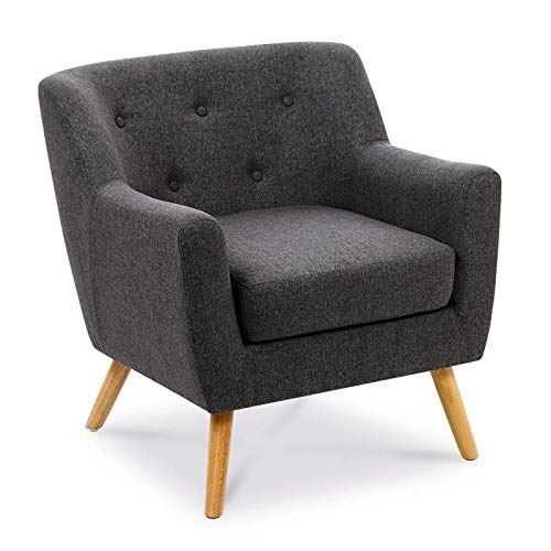 Fauteuil scandinave gris anthracite