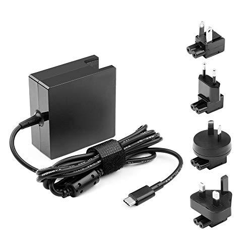 HKY 65W USB C voeding oplader vervanging voor Surface Book, MacBook, MacBook Pro, Nintendo Switch, Google Pixel, Pixel 2, Dell, Xiaomi Air, Huawei Matebook, HP Spectre, Thinkpad, met EU UK US AU stekker