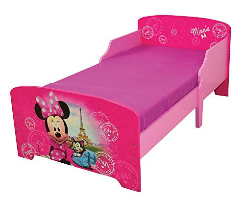 Fun House 712861 Disney Minnie Paris Lettino per bambini, 140 x 70 cm, con doghe, MDF, 144 x 77 x 59 cm
