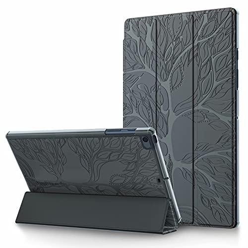 TTNAO Funda Compatible con iPad 8.a/7.a generación 2020/2019 (10,2 Pulgadas) Carcasa Case con Soporte Inteligente Protectora de Piel Liviana y Delgada Cover con Función Auto Sueño/Estela-Gris