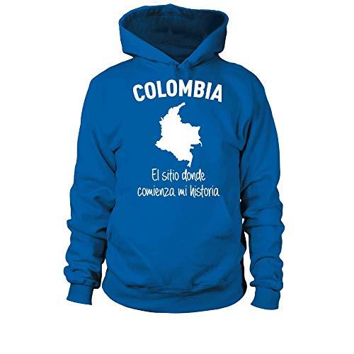 TEEZILY Sudadera con Capucha Unisex Colombia el Sitio Donde Comienza mi Historia