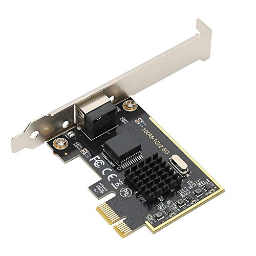 Hopcd PCIe 2.5G Scheda di Rete Gigabit, 10/100 / 1000Mbps / 2.5Gbps Scheda di Rete PCIE Gigabit Ethernet RJ45 per Windows/Me / 98SE / 2000 / XP/Vista / 7/8