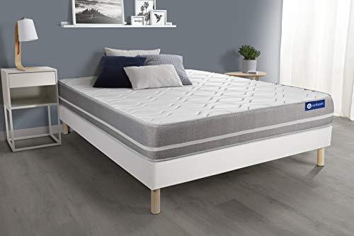Pack colchón Actiflex Touch 150x190cm + Somier multiláminas, Muelles ensacados, 3 Zonas de Confort