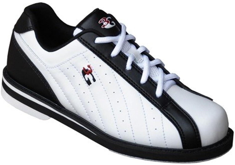 3G Kicks Black White Unisex Bowling shoes