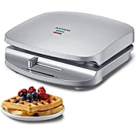 AIICOOK 1000W 2-Slice Waffle Maker with Deep Cooking Plates