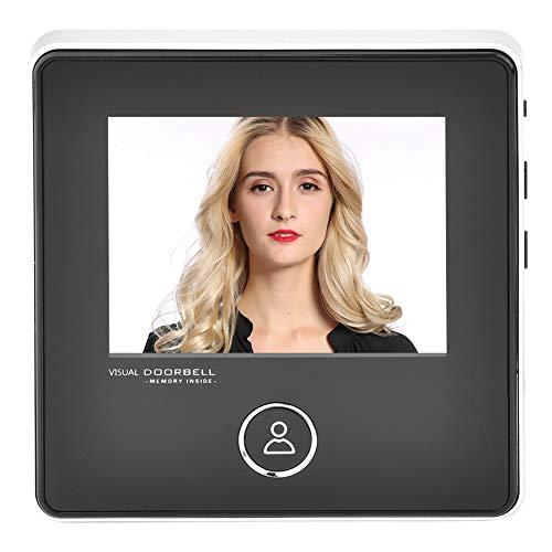 garsent HD Timbre Visual con Mirilla Inteligente, 3 Pulgadas Pantalla TFT LCD Timbre con visión Nocturna de 1 MP IR 120 Grados de Ancho Batería de Litio incorporada de 1200 mAh