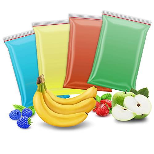Zucchero per zucchero filato colorato con 4 gusti da 200 g: mela, fragola, banana, lampone blu, perfetto per ogni macchina da zucchero a velo, peso complessivo: 800 g