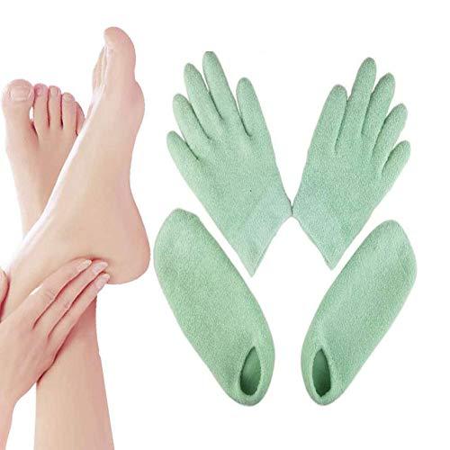 Feuchtigkeitsspendende Handschuhe, feuchtigkeitsspendende Socken, Gelsocken für die Fuß- und Handbehandlung, für Fußpflege und Bleaching-Erweichung bei trockenen Händen