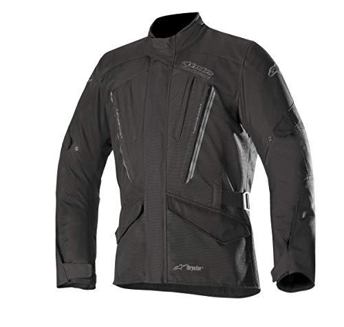 Alpinestars Chaqueta moto Volcano Drystar Jacket Black, Negro, M, 320351810