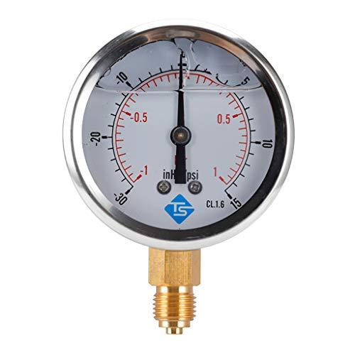 Bonarty Hydraulischer Luftdruck Manometer, Druckluft Vakuum Messer - B.