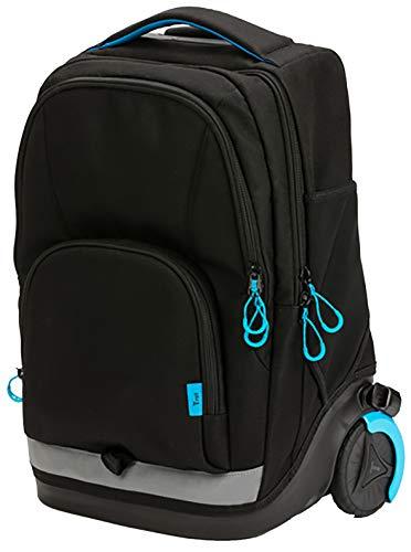 okiedog 2in1 Stardust Schulrucksack, Trolley für die Schule, schwarz, 2 Rollen, automatische Rollenabdeckung, intelligentes Gurtsystem, Laptopfach, ca. 35 x 25 x 46 cm, 30 Liter