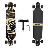 WIN.MAX Longboard Skateboard, 7-lagigem Ahornholz Cruiser...