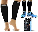 Pro Calf Compression Sleeve Men and Womens (20-30mmHg) - Shin Splint Leg Compression Sleeve for Instant Leg Pain Relief, Circulation, Recovery - Compression Sleeves for Runners, Cramps