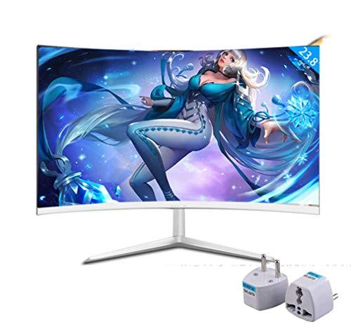 NOOYC 24 inch 75hz IPS Full HD 1920 XC 1080 gaming monitor - (white/black), 2 ms Response Time, 3 H Hard Coating IPS, HDMI/VGA, Anti-Glare, Tilt and swivel, Thin Bezel,white_24 inch