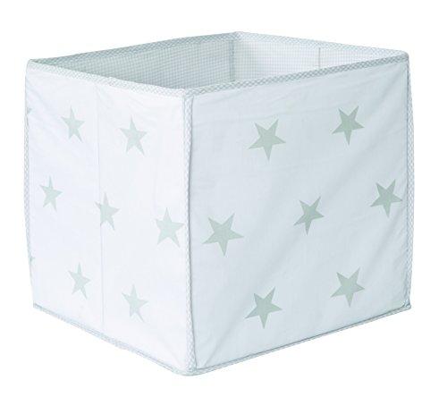 Roba 139100hgv190 – boîte de rangement « Little Stars » grise avec étoiles blanches.