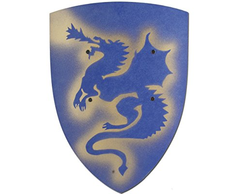 Knights Wooden Plaque – VAH 203 Dragons, Blue, Small