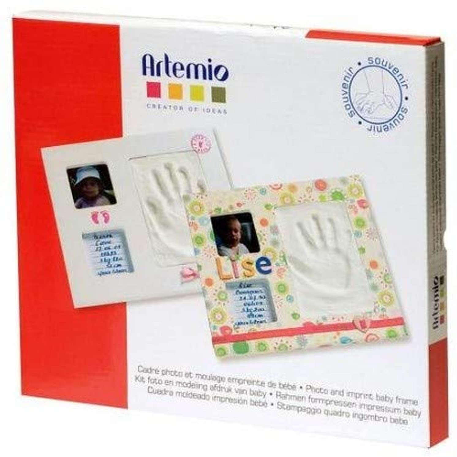 Artemio 13040002 Photo & Imprint Baby Frame, White Frame-28cmx 23.5cmx 1.2Cm